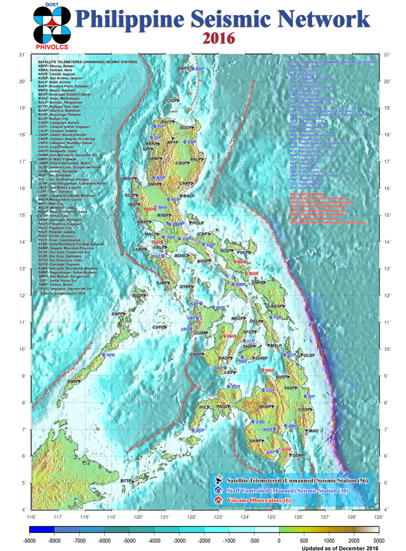 Philippine Institute of Volcanology & Seismology (Philvolcs) Station Camiguin, PHIVOLCS Seismic Monitoring Network