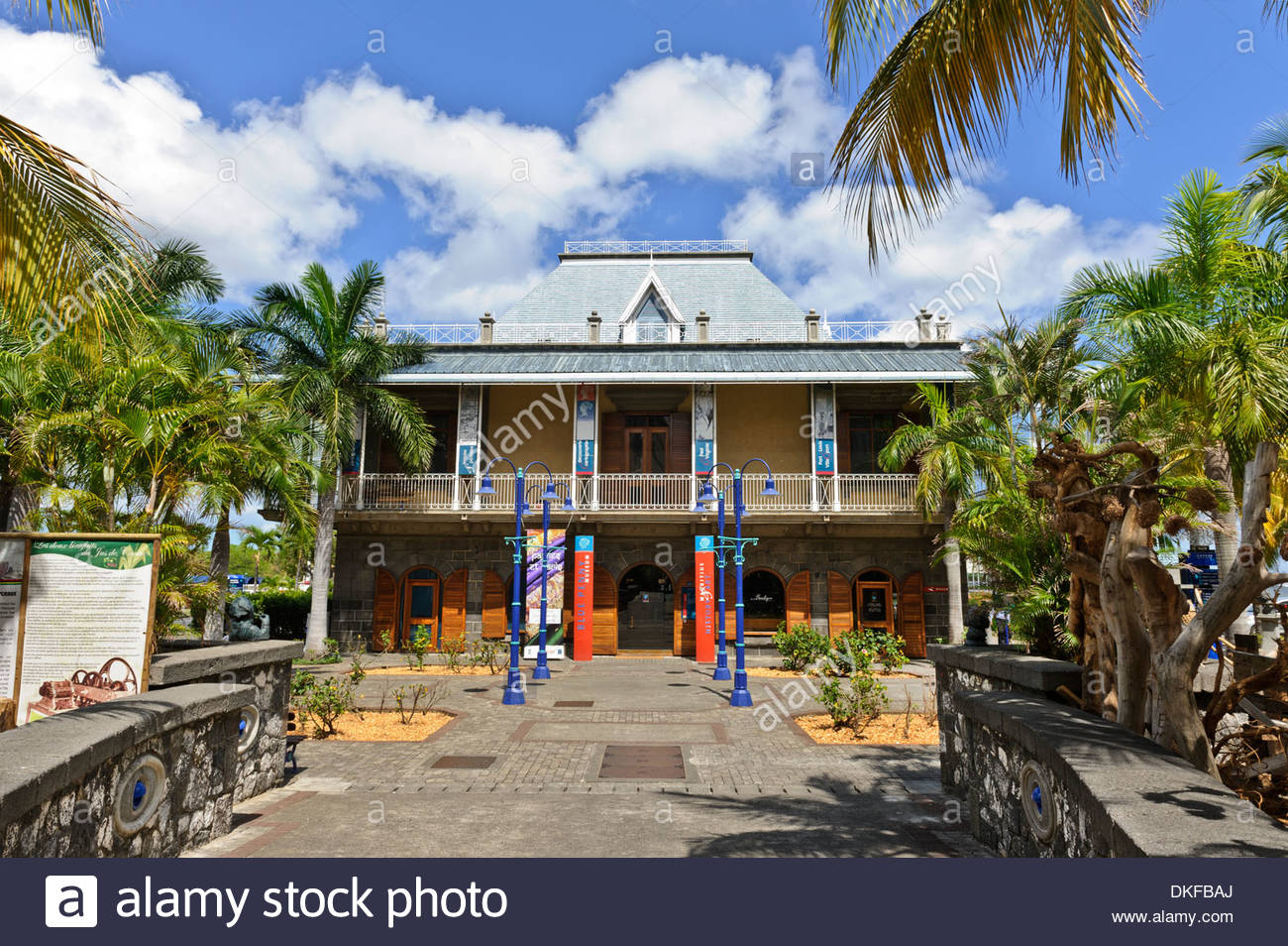 Blue Penny Museum Port Louis, Blue Penny Museum, Port Louis, Mauritius Stock Photo, Royalty Free ...