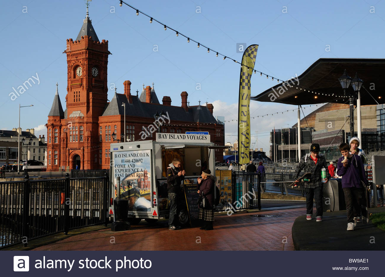 Pierhead South Wales, Pierhead building on Cardiff Bay south Wales UK Stock Photo ...