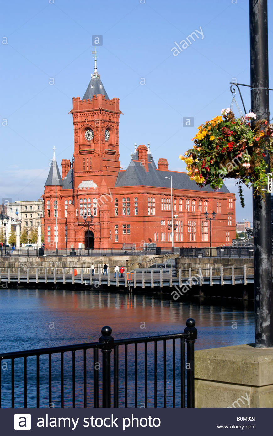 Pierhead South Wales, Victorian Pierhead Building, Cardiff Bay, South Wales, UK Stock ...