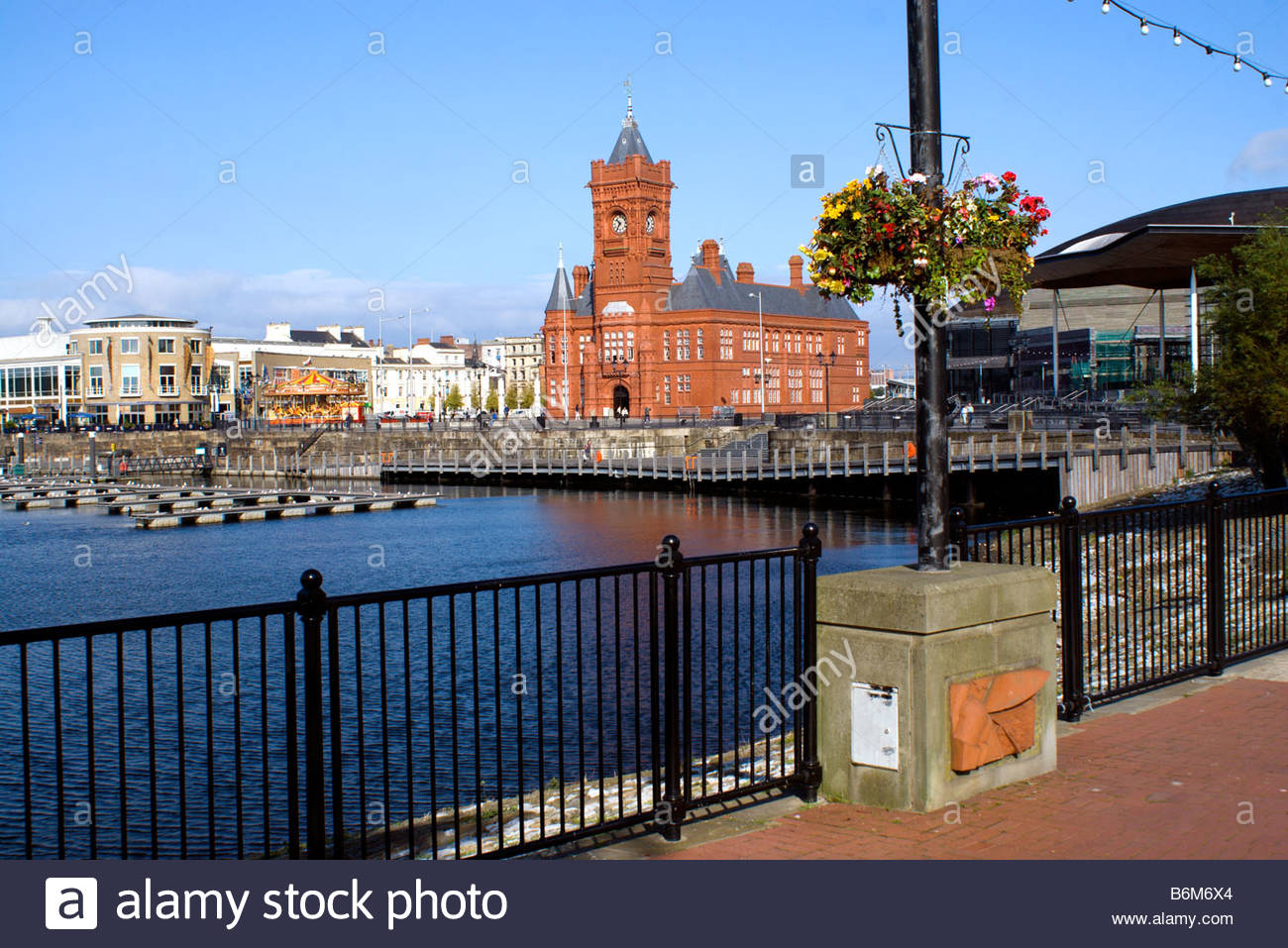 Pierhead South Wales, victorian pierhead building cardiff bay south wales Stock Photo ...