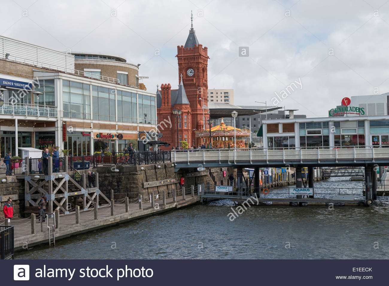 Pierhead South Wales, Mermaid Quay and The Pierhead Building, Cardiff Bay, South Wales ...