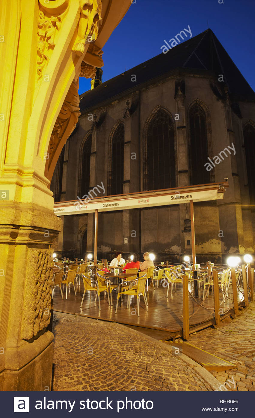 Pilsner Urquell Brewery Plzeň, Outdoor Cafe In Front Of St Moritz Cathedral At Dusk, Olomouc ...
