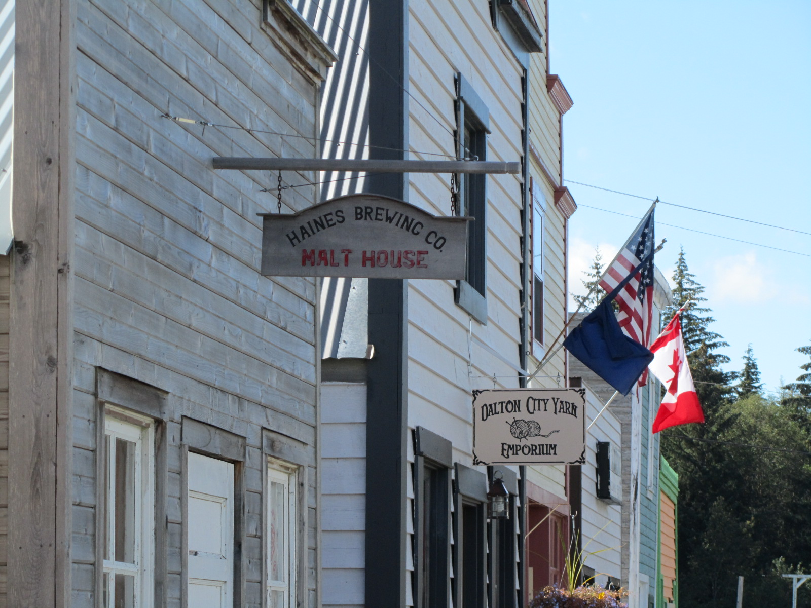 Pine Valley Museum Halfway, Dalton City AK aka (white fang movie set) home of Haines Brewing ...