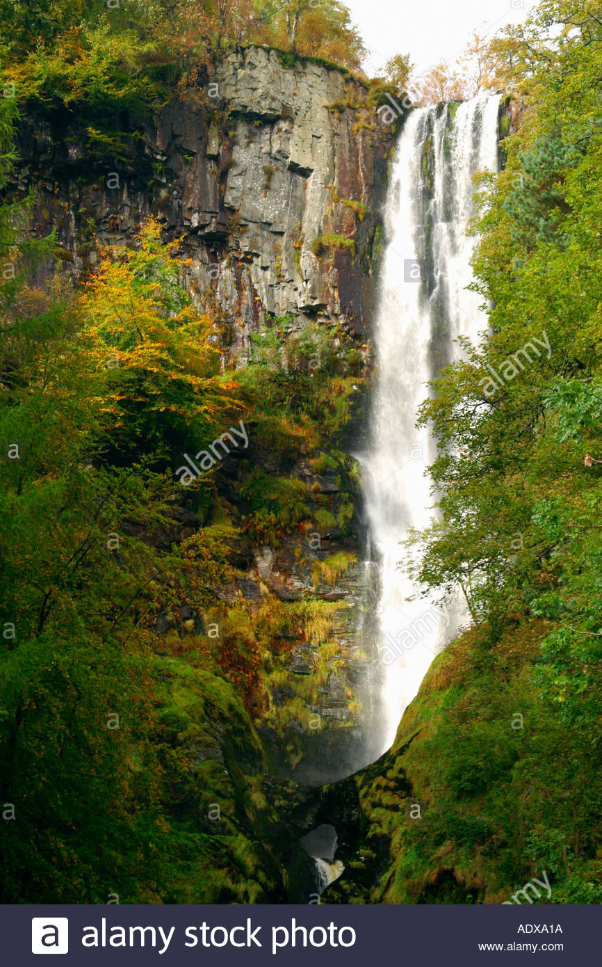 Pistyll Rhaeadr North Wales, Pistyll Rhaeadr waterfall in the Berwyn Mountains Denbighshire ...