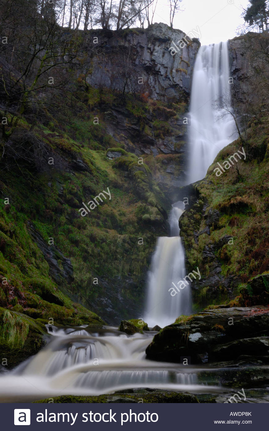 Pistyll Rhaeadr North Wales, Pistyll Rhaeadr waterfall in North Wales Stock Photo, Royalty Free ...