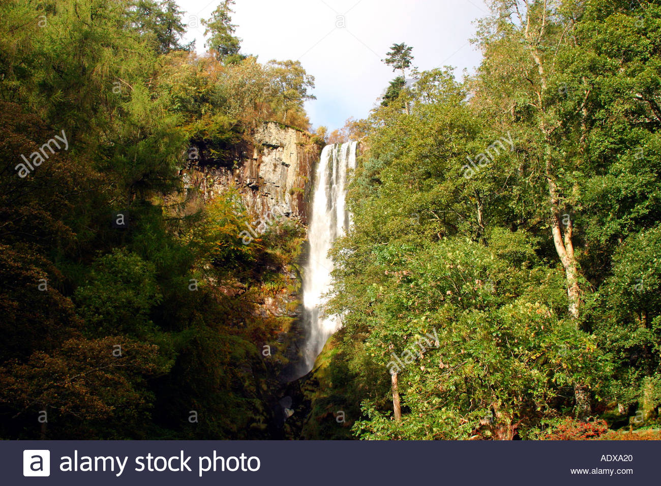 Pistyll Rhaeadr North Wales, Pistyll Rhaeadr waterfall in Denbighshire Berwyn Mountains North ...