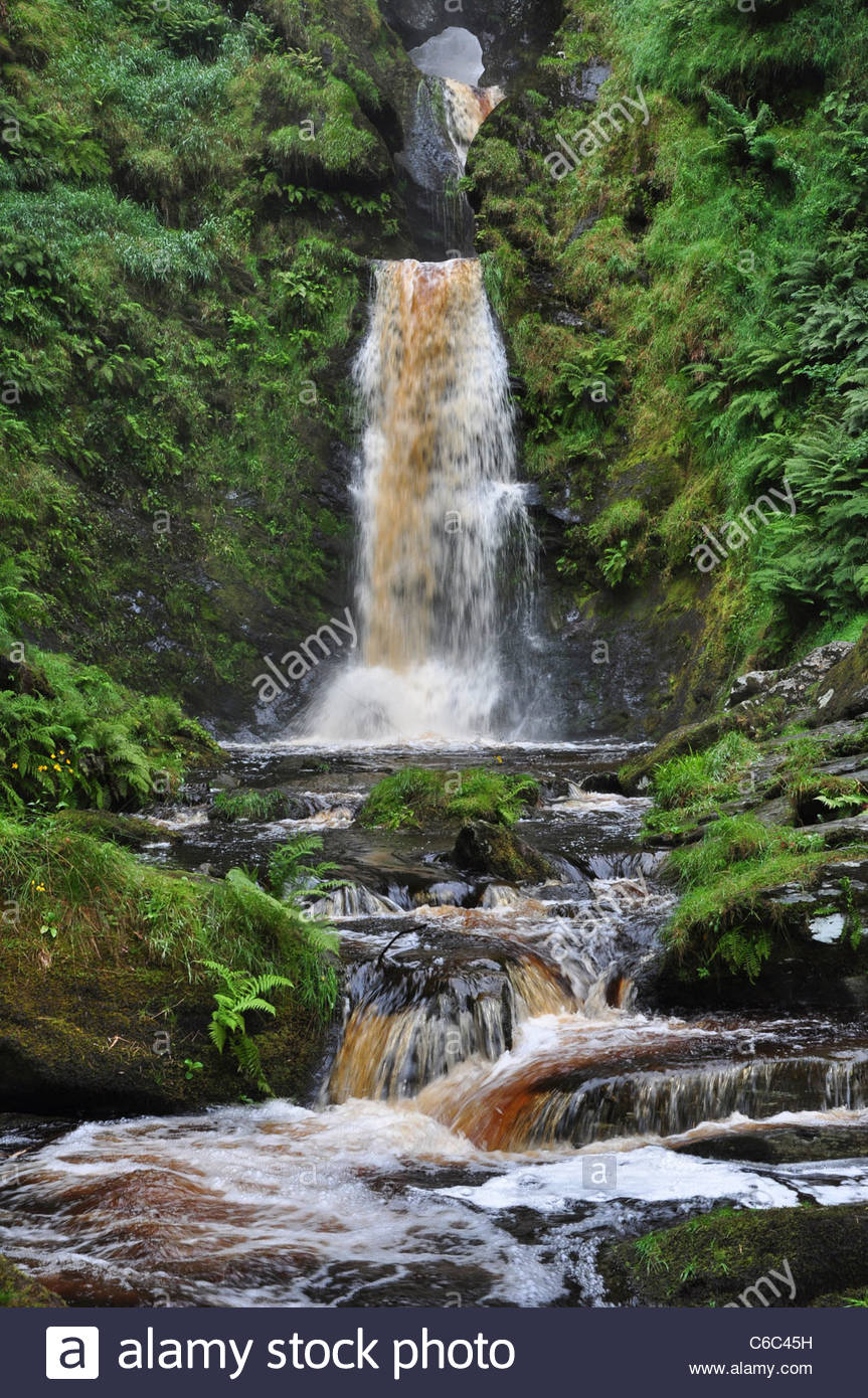 Pistyll Rhaeadr North Wales, Pistyll Rhaeadr waterfall, North Wales, UK. August 2011 Stock ...