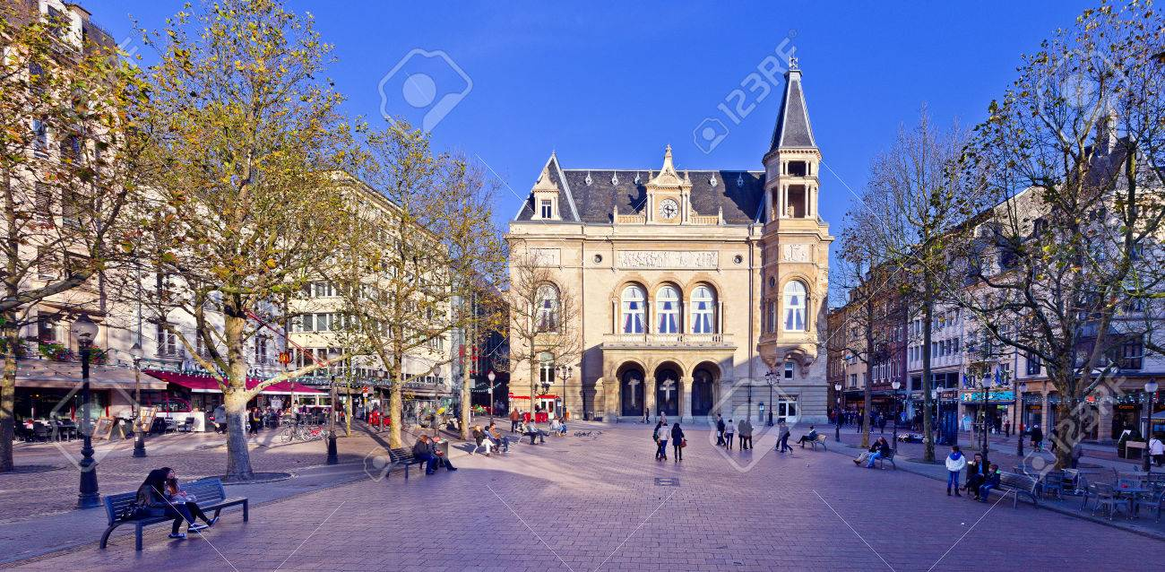 Place d'Armes Luxembourg City, Panorama Of Place D Armes In Luxembourg City Stock Photo, Picture ...