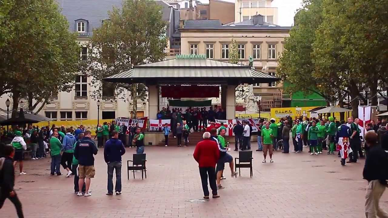 Place d'Armes Luxembourg City, Irish in Place d'Armes, Luxembourg city centre - 10th September ...