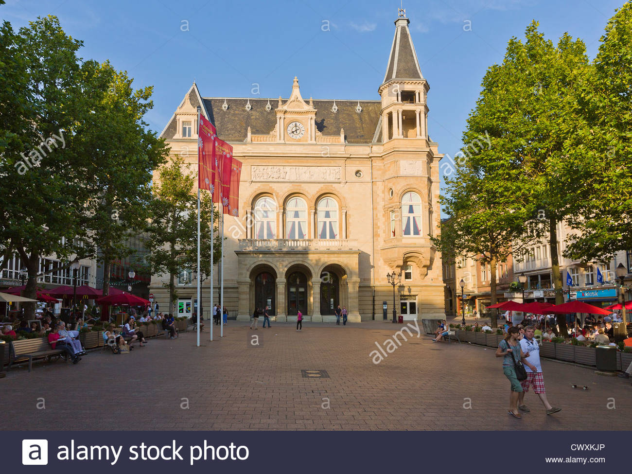 Place d'Armes Luxembourg City, Luxembourg City - Terraces and Cercle Municipal on place d'Armes ...