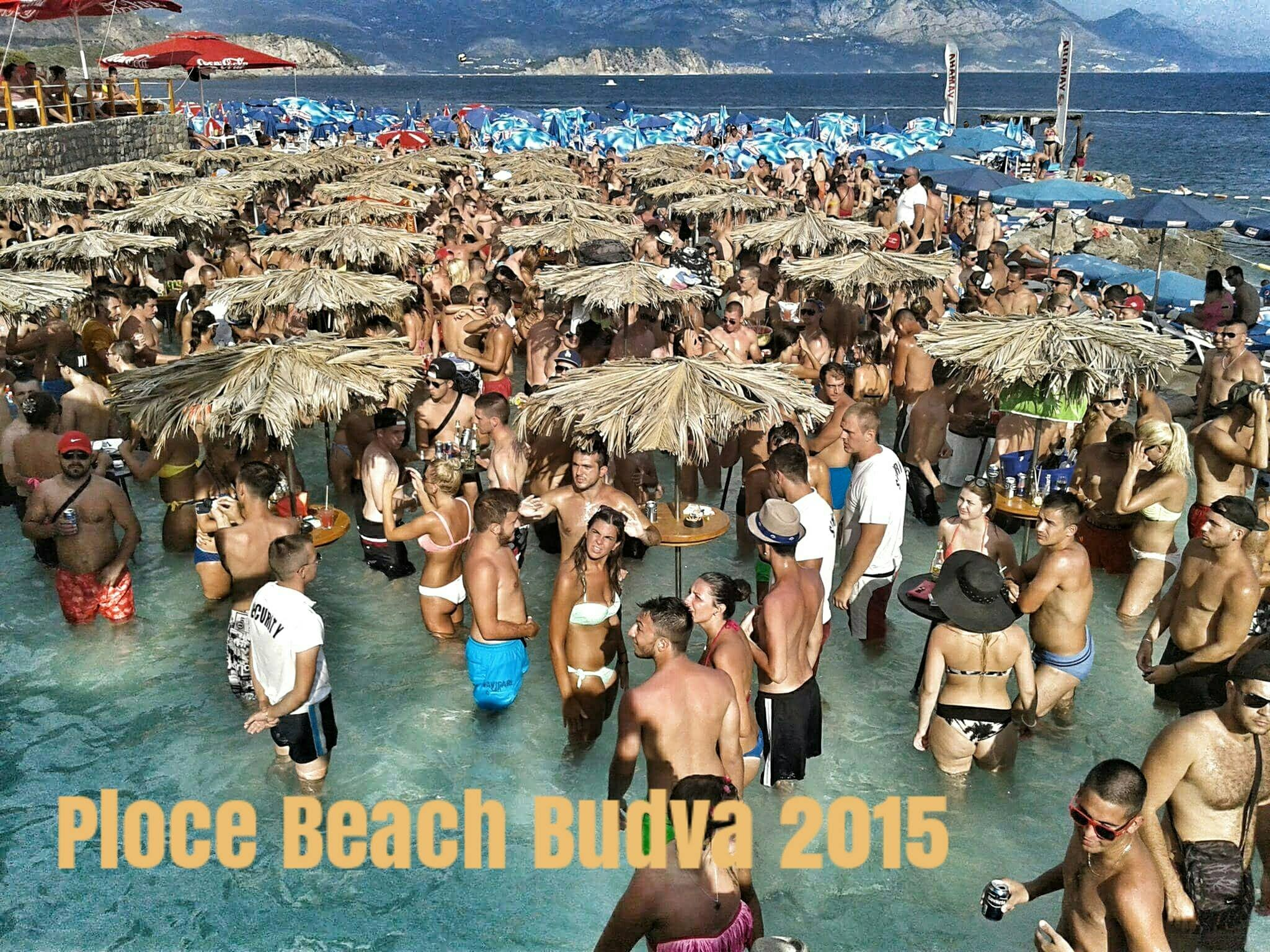Ploče Beach Budva, Ploce beach Budva summer 2015 - YouTube