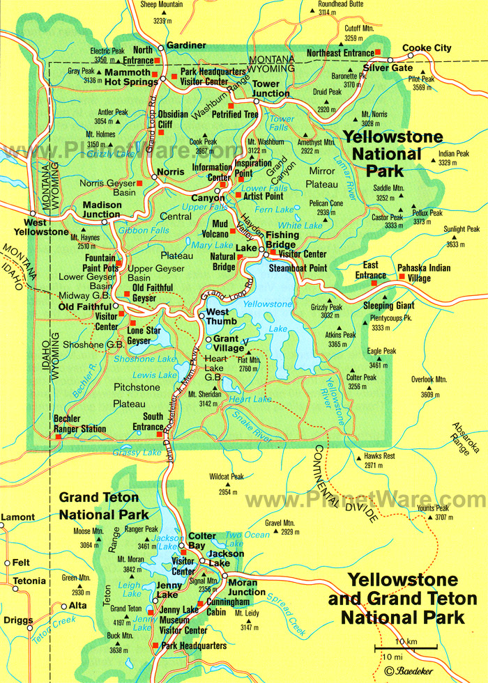 West Thumb Information Center Yellowstone National Park, yellowstone national park | Some attractions within Map of ...