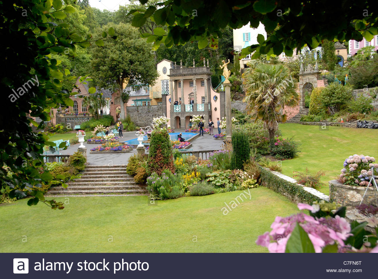 Portmeirion North Wales, Portmeirion village in north Wales created by Sir Clough Williams ...