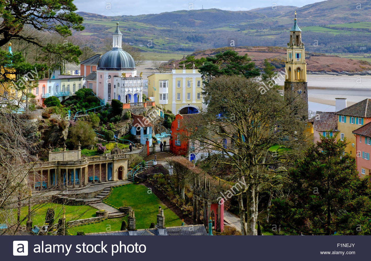 Portmeirion North Wales, Portmeirion - a holiday resort and hotel in North Wales used in ...