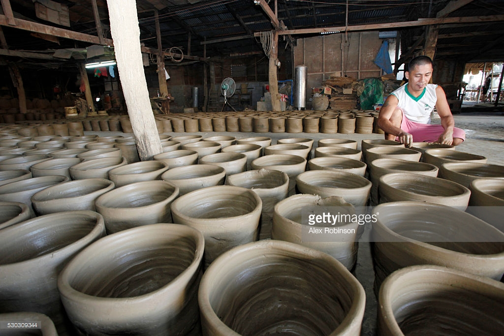 Pottery Factories Vigan, Asia South East Asia Philippines Ilocos Vigan Traditional Hand ...