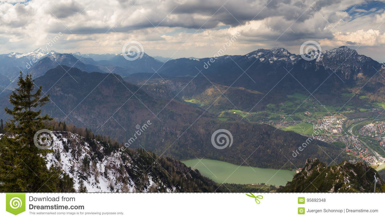 Predigtstuhl The Bavarian Alps, Cityscape Of Bad Reichenhall As Seen From The Top Of Predigtstuh ...
