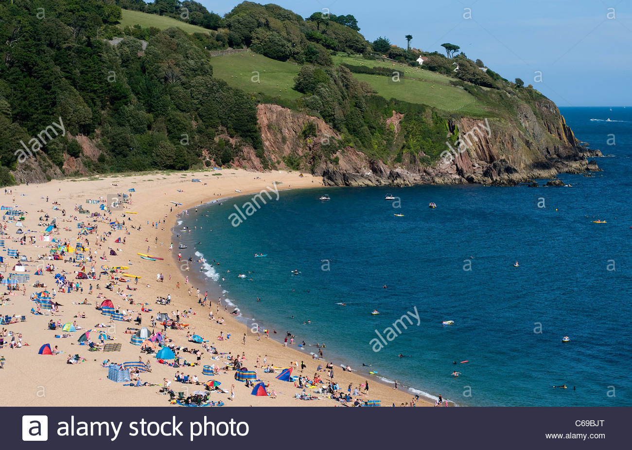 Princess Diana Beach West & South Coasts, Blackpool Sands in Peak summer,Princess Diana and James Hewitt ...
