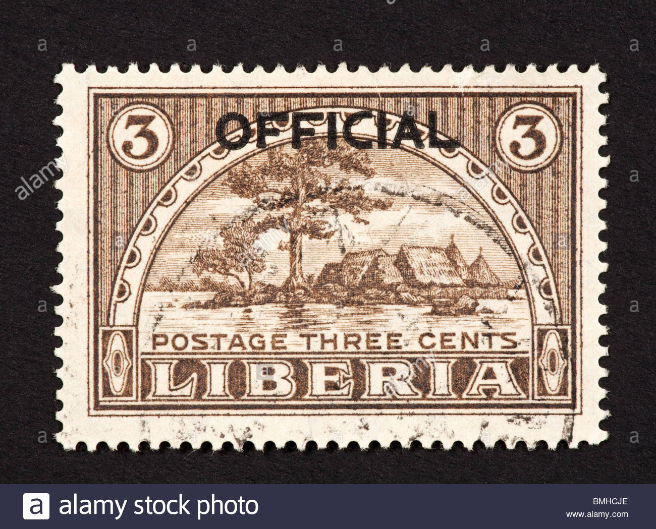 Providence Island Monrovia, Postage stamp from Liberia depicting Providence Island and ...