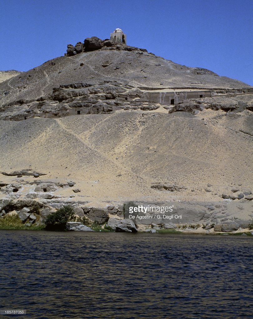 Qubbet Al Hawa Aswan, View Of Tombs Of Princes From Nile Qubbet Elhawa West Bank Of Nile ...