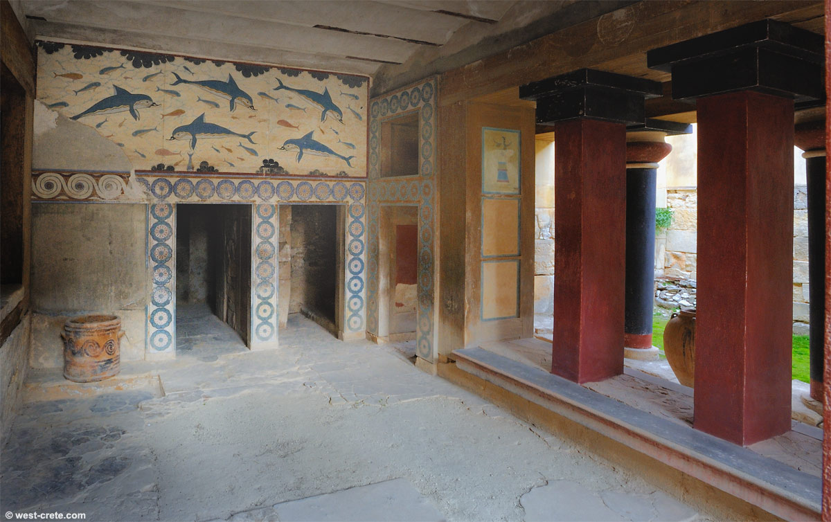 Queen's Megaron Knossos, The Queen's megaron in Knossos