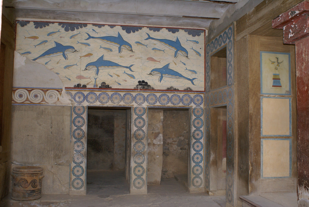 Queen's Megaron Knossos, Queen's Megaron, Palace of Knossos, Crete, Ancient Greece