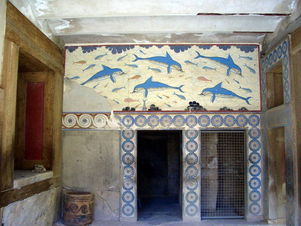 Queen's Megaron Knossos, Queen's Megaron Dolphin Frescoes, Knossos | The walls of the… | Flickr