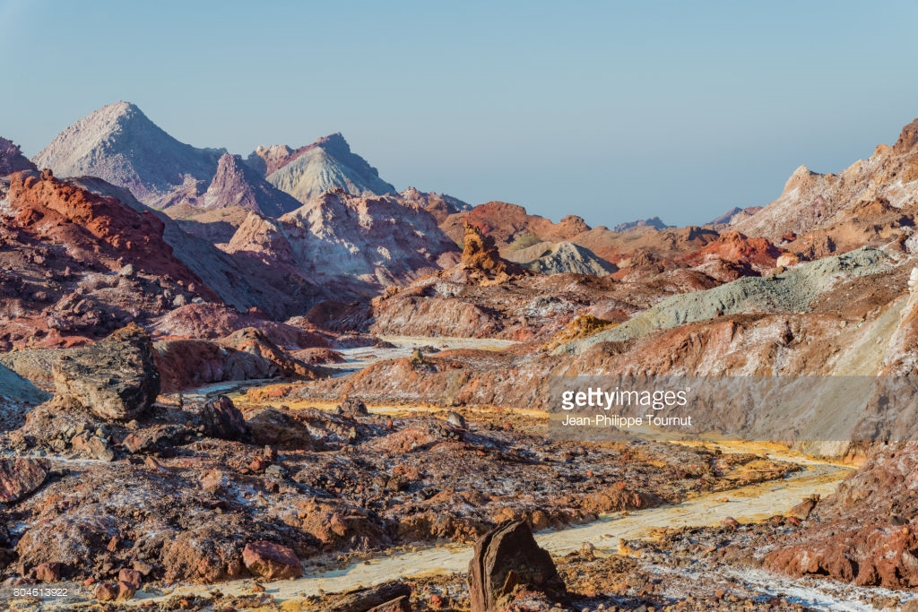 Rainbow Valley Hormoz Island, Landscape In The Rainbow Valley Hormuz Island Persian Gulf ...