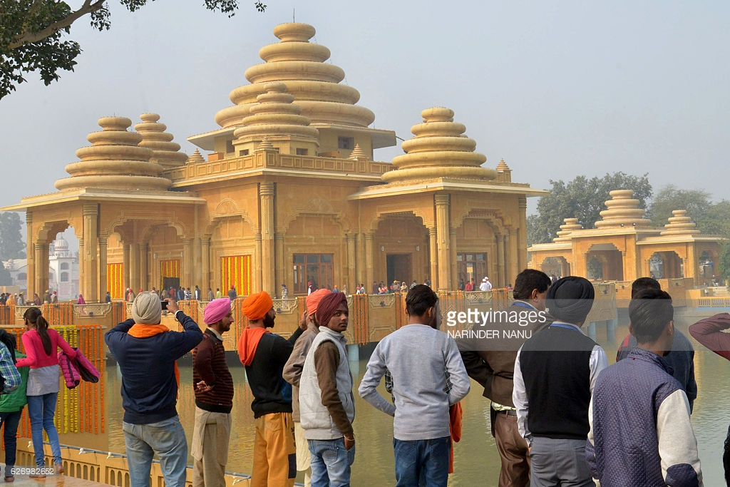 Ram Tirath Temple Amritsar, Hindu devotees pay respects at the Bhagwan Valmiki temple during ...