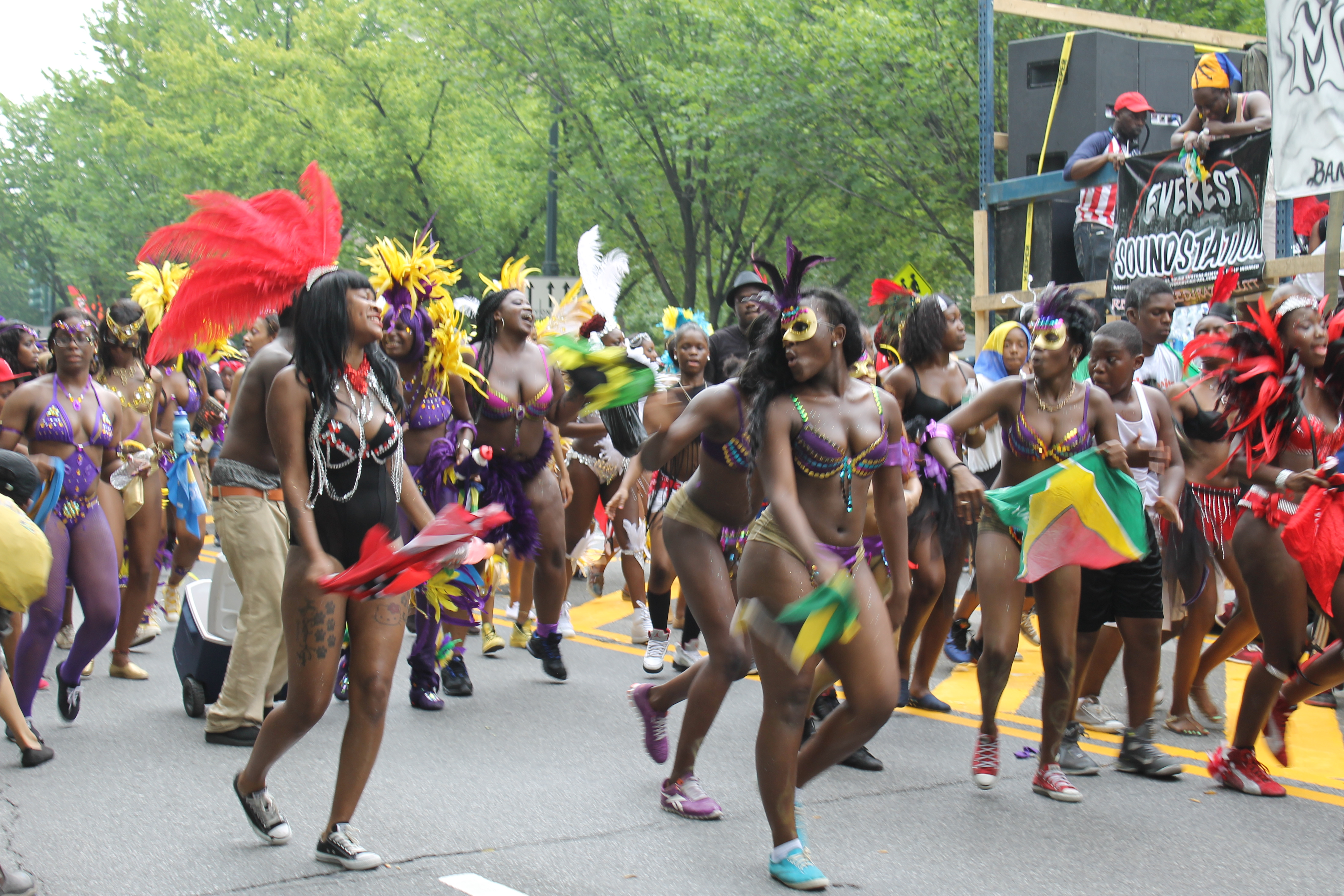 Ramble New York City, Black and White Queen Shines at the West Indian Day Parade | NYC ...
