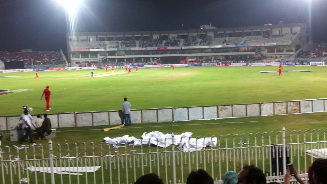 Rawalpindi Cricket Stadium Islamabad & Rawalpindi, Dean Jones hits a six in Rawalpindi cricket stadium, Pakistan ...