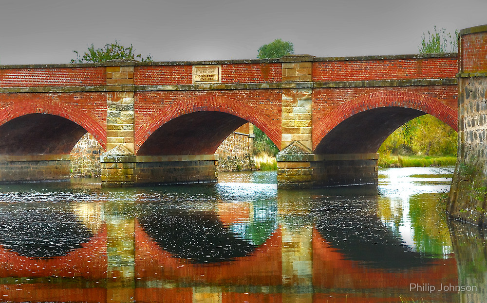 Red Bridge Campbell Town, The Red Bridge c1838 - Campbell Town, Tasmania - The HDR ...