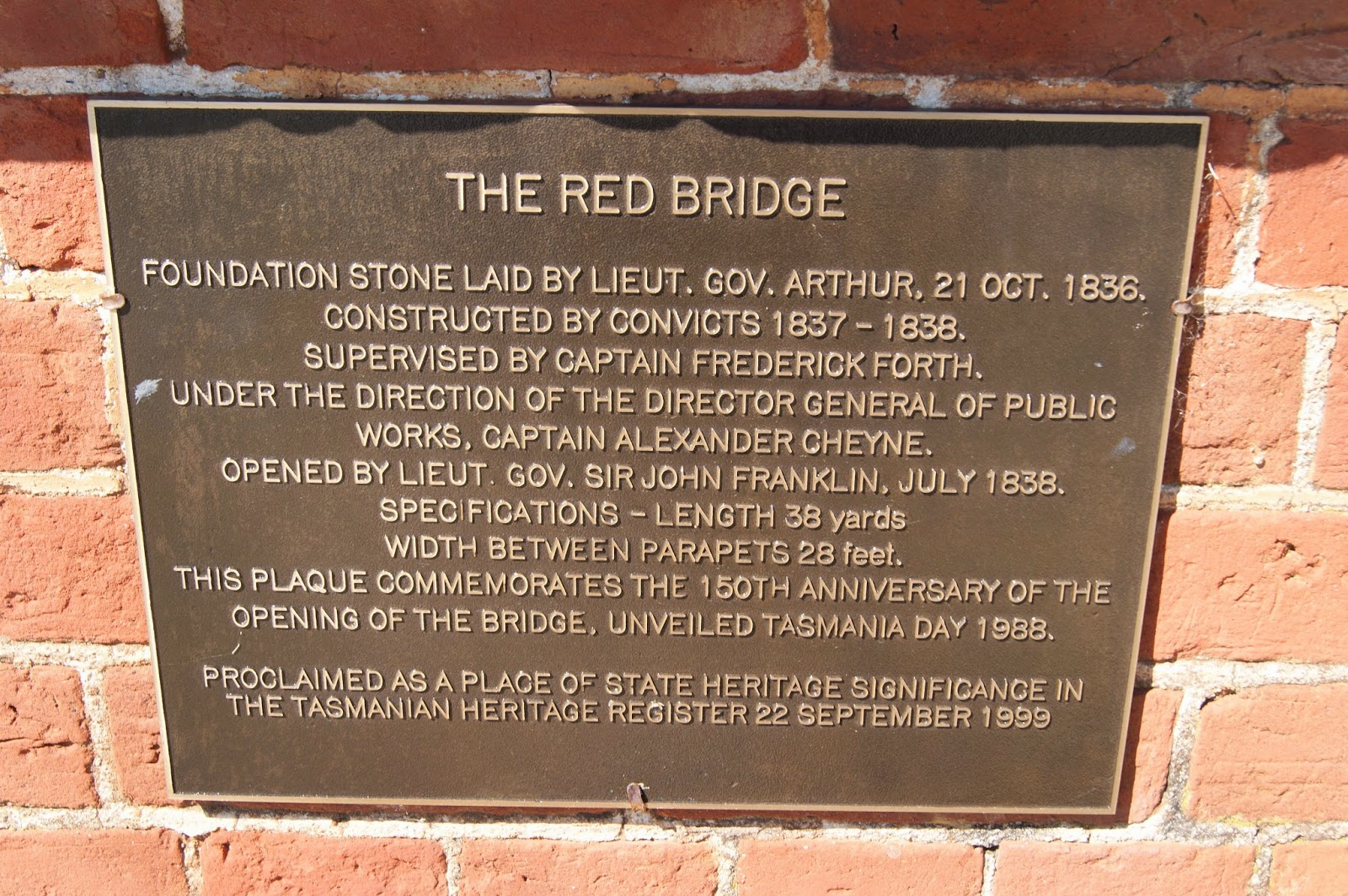 Red Bridge Campbell Town, On The Convict Trail: The Red Bridge, Campbelltown