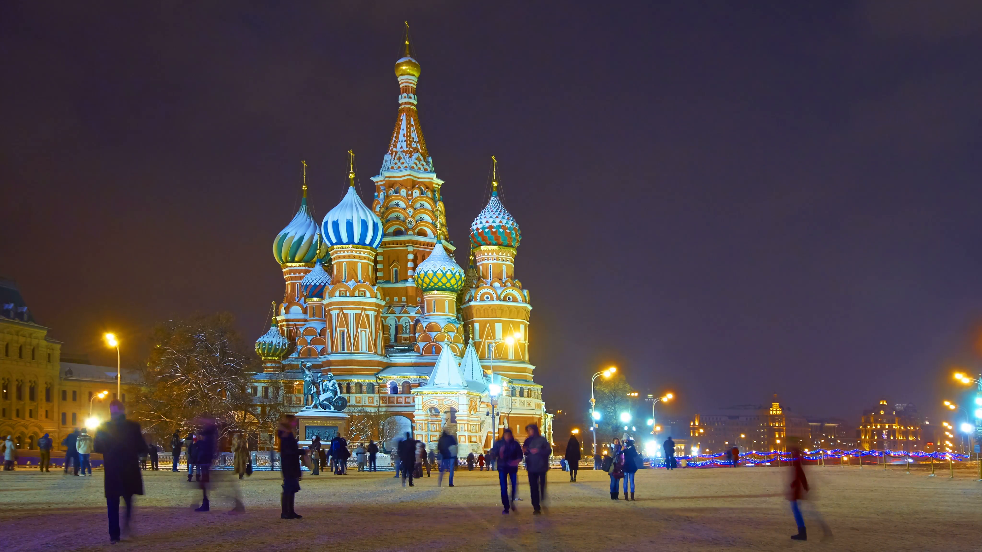 Red Square Moscow, Red Square, Moscow Kremlin and St. Basil's Cathedral at winter ...