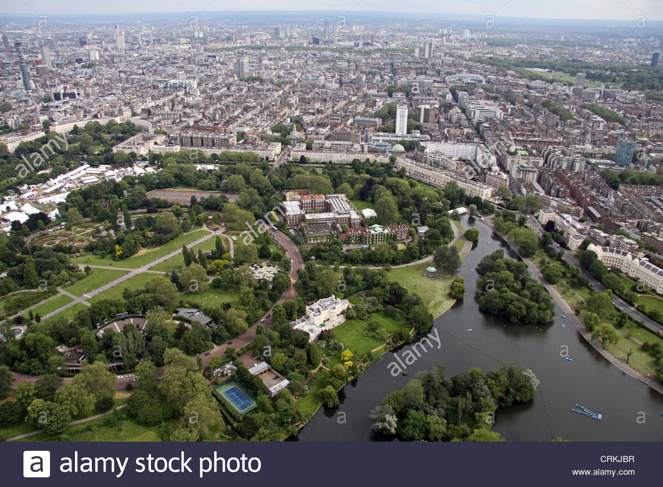 Regent's Park London, aerial view of Regent's Park, London NW1 Stock Photo, Royalty Free ...