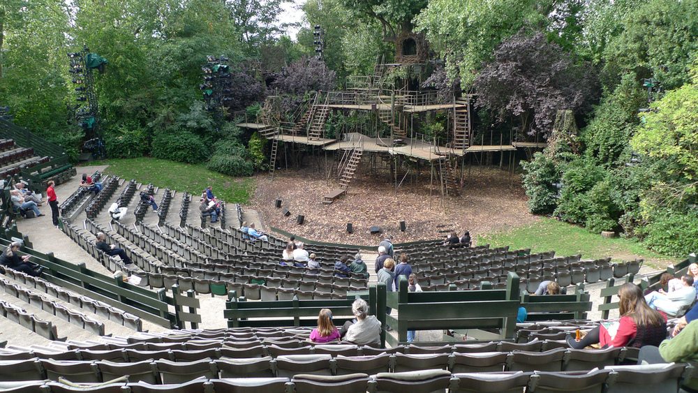 Regent's Park Open-Air Theatre London, Regent's Park Open Air Theatre in Camden London - The surrounding ...