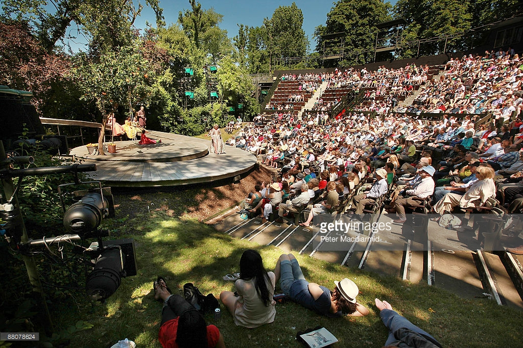Regent's Park Open-Air Theatre London, Crowds Enjoy A Matinee Performance At Regents Park Open Air ...