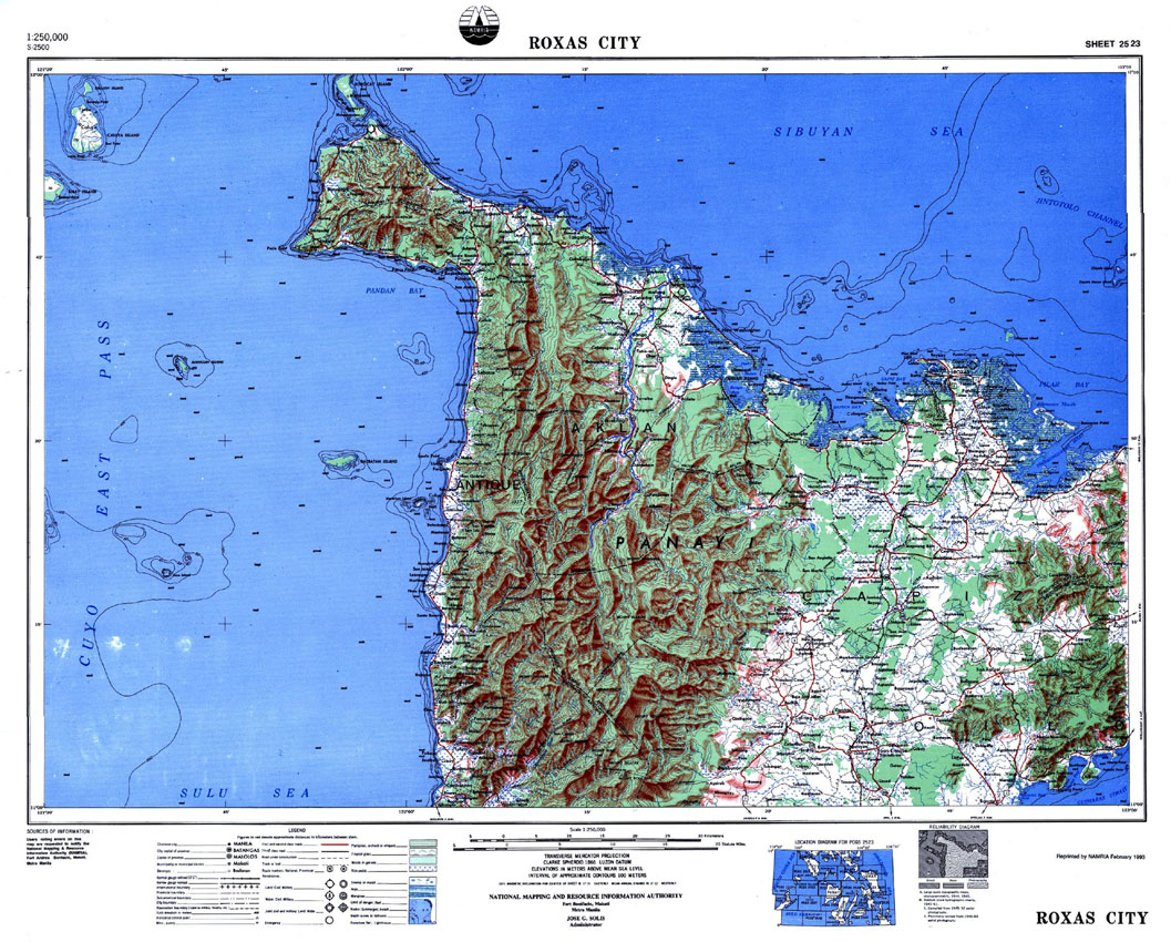 Relief Map of the Philippines Manila, NAMRIA | The Central Mapping Agency of the Government of the ...