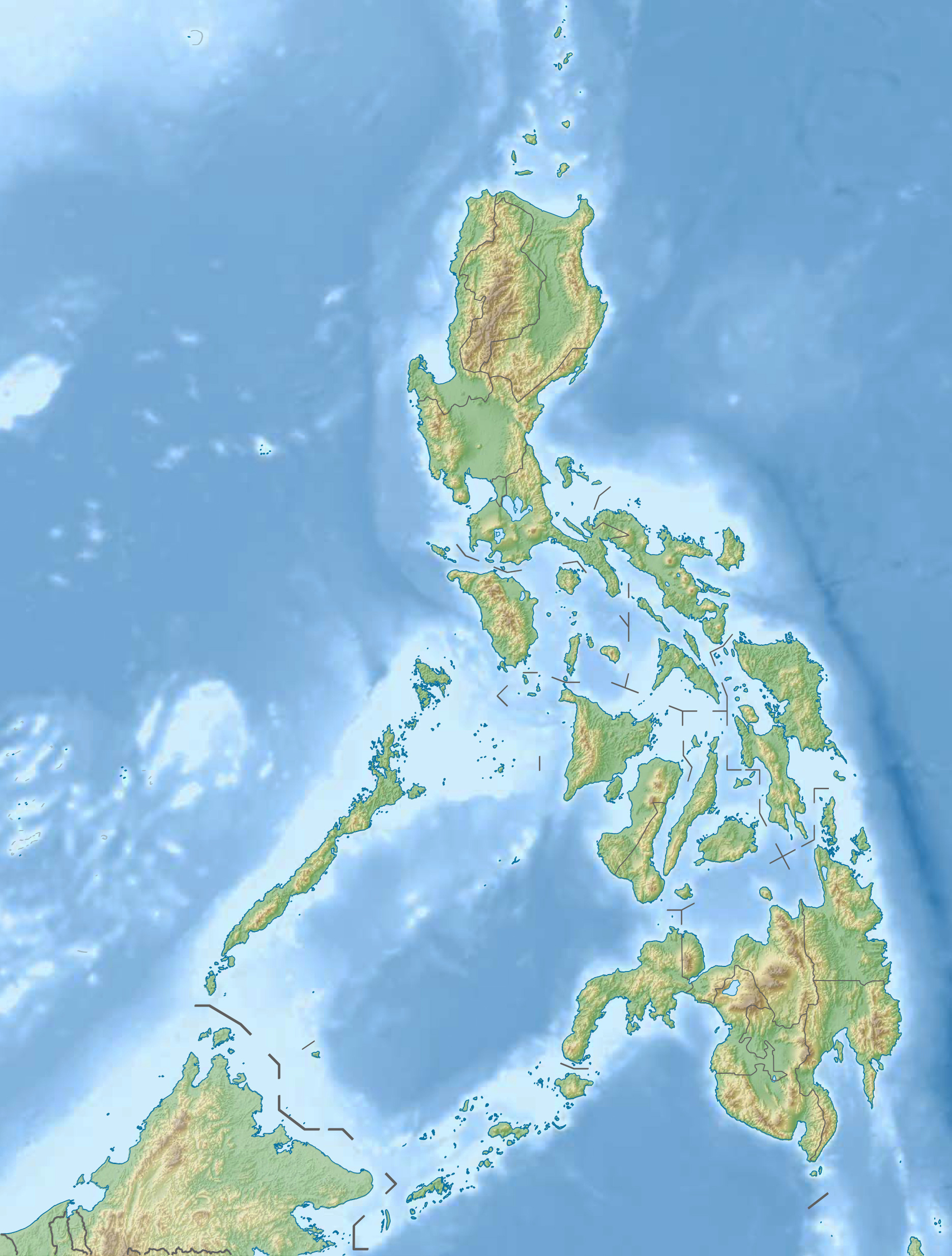 Relief Map of the Philippines Manila, Maps of Philippines | Detailed map of Philippines in English ...