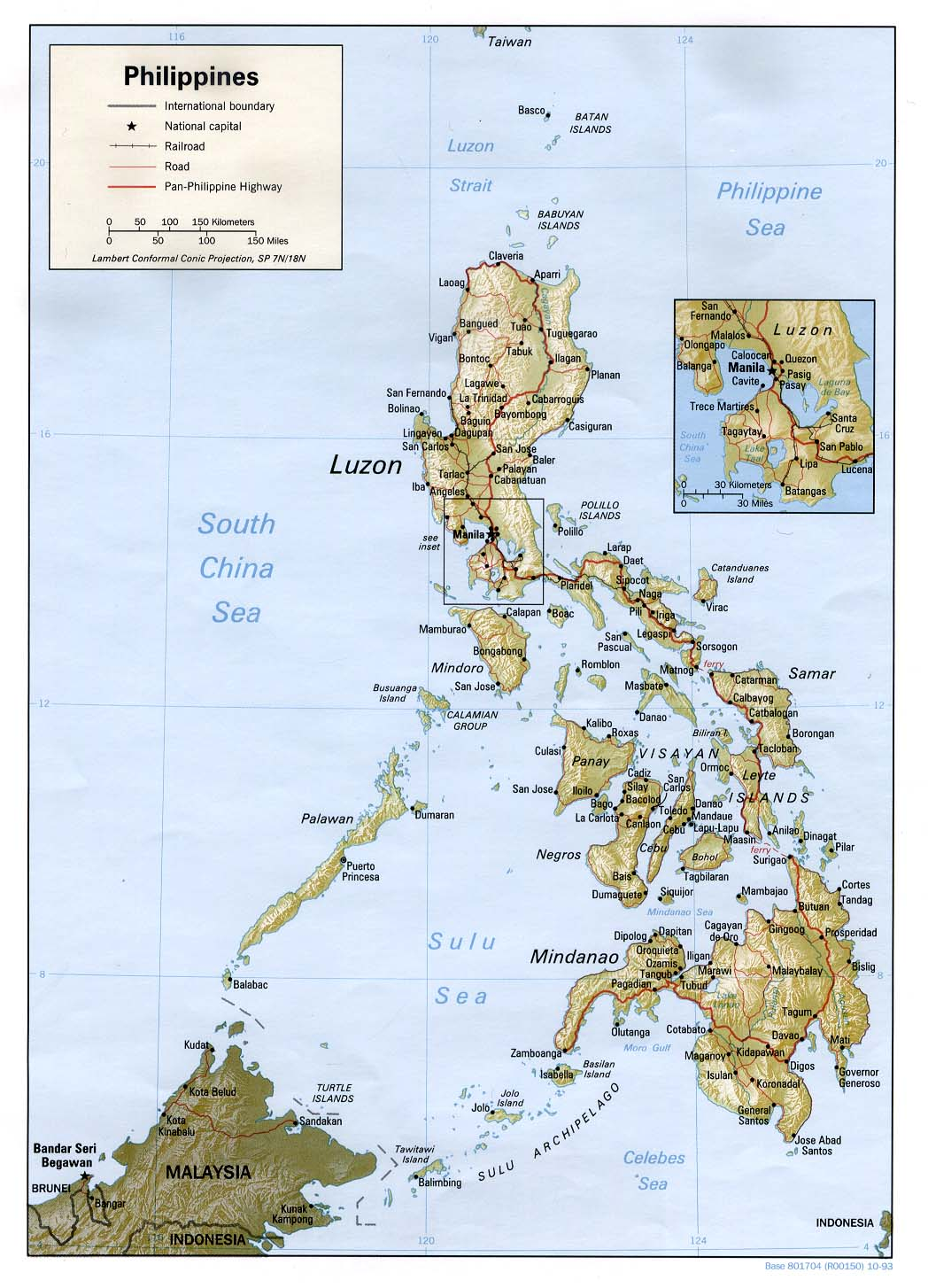 Relief Map of the Philippines Philippines