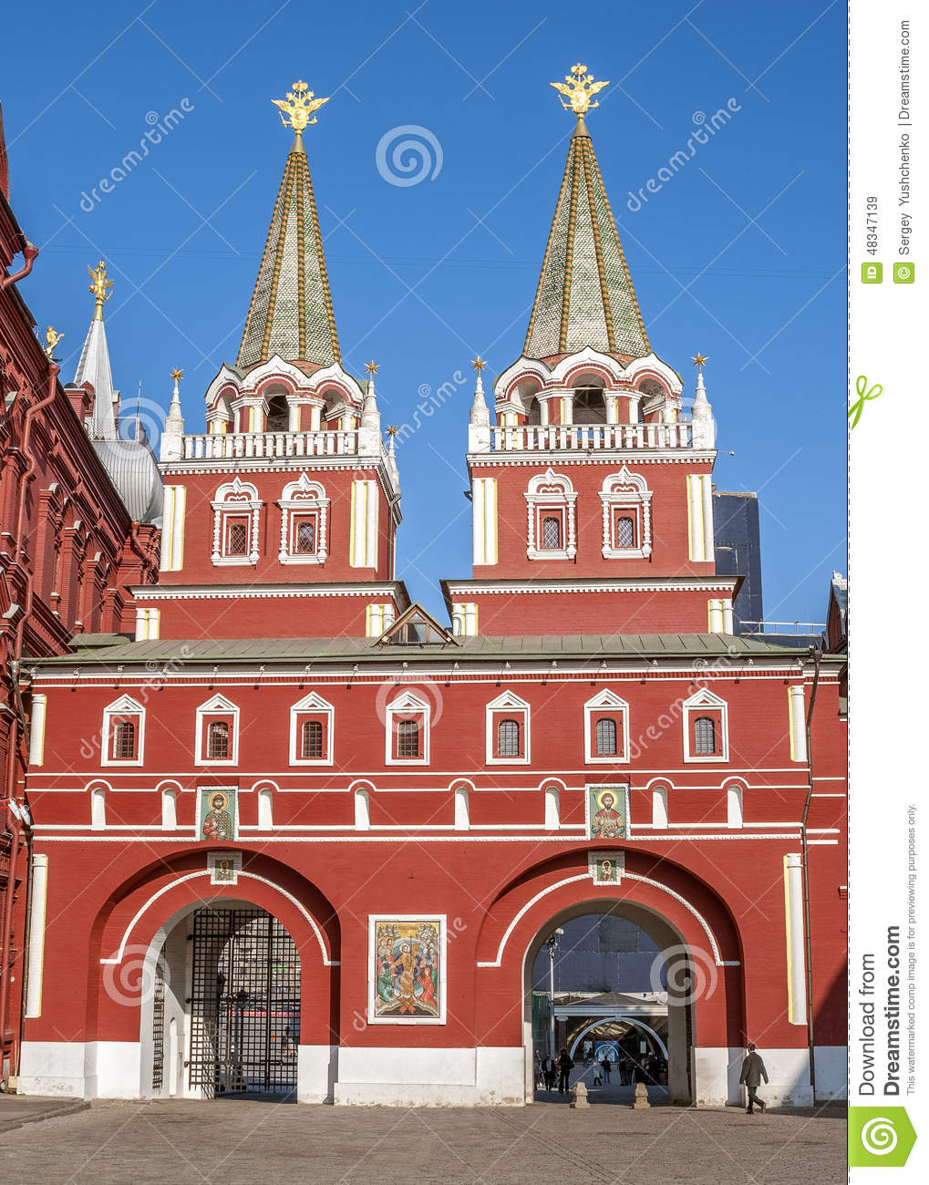 Resurrection Gates Moscow, Russia, Moscow , Red Square . Resurrection ( Iberian ) Gate Of C ...