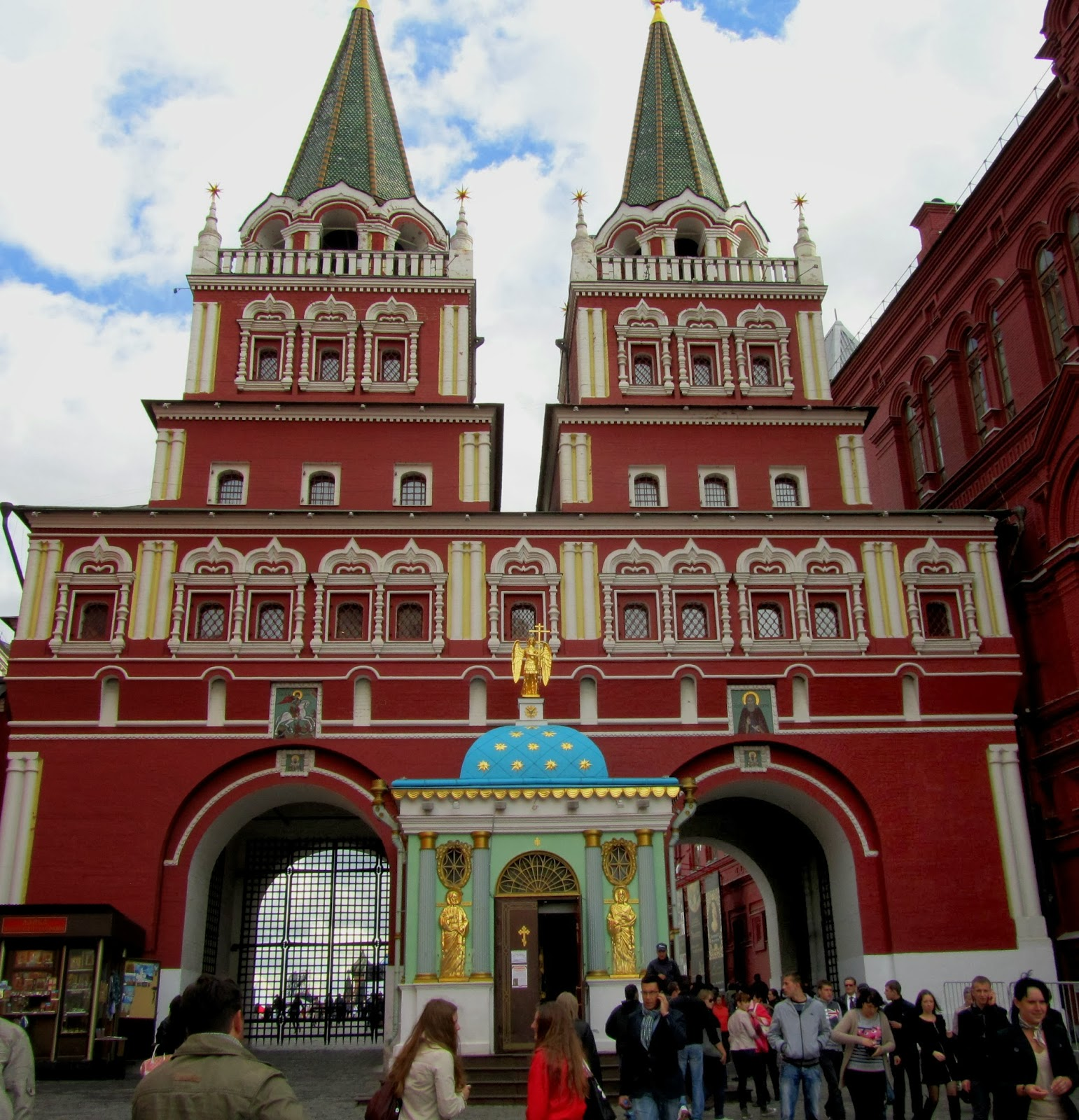 Resurrection Gates Moscow, Pritam Rohila Travels: 2012, SEPTEMBER 7: RUSSIA, MOSCOW - RED SQUARE