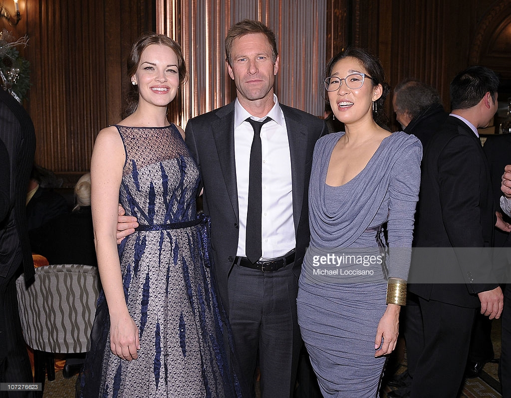 Riegelmann Boardwalk New York City, actors-tammy-blanchard-aaron-eckhart-and-sandra-oh-attend-the-after-picture-id107276623