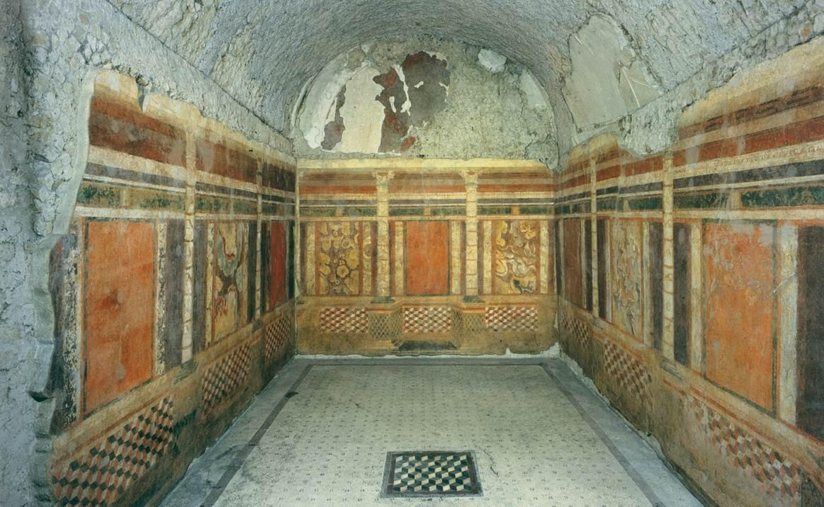 Roman Painted House The Southeast, 298-ROMAN ARCHITECTURE, First Style Wall Painting (c. 200–60 BC ...