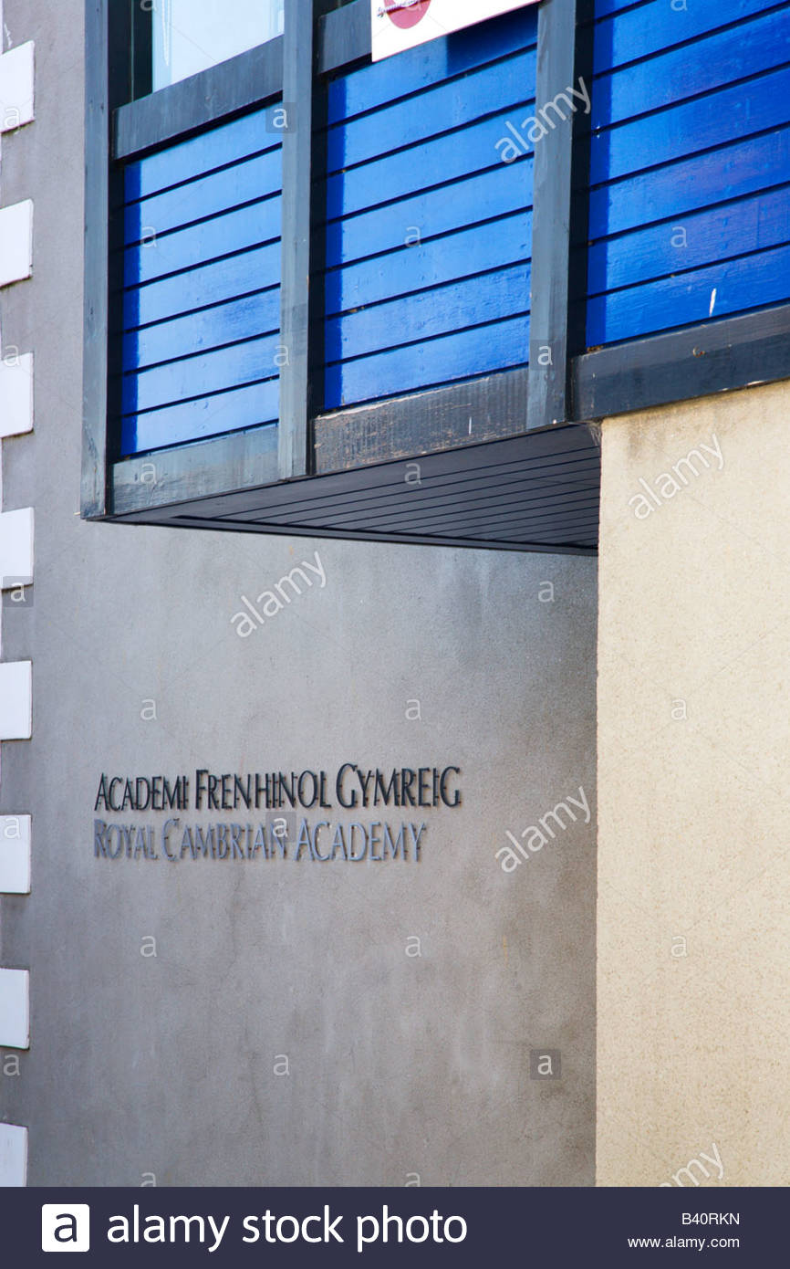 Royal Cambrian Academy Conwy, Royal Cambrian Academy Gallery Sign Conway Wales Stock Photo ...