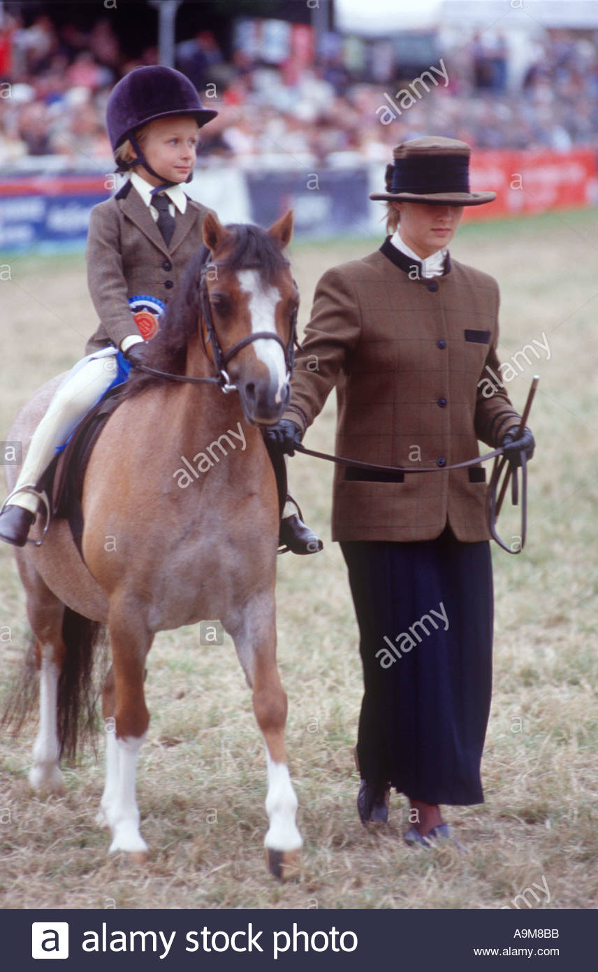 Royal Welsh Show Mid-Wales, Pony competition Royal Welsh Show Builth Wells Mid Wales Stock ...