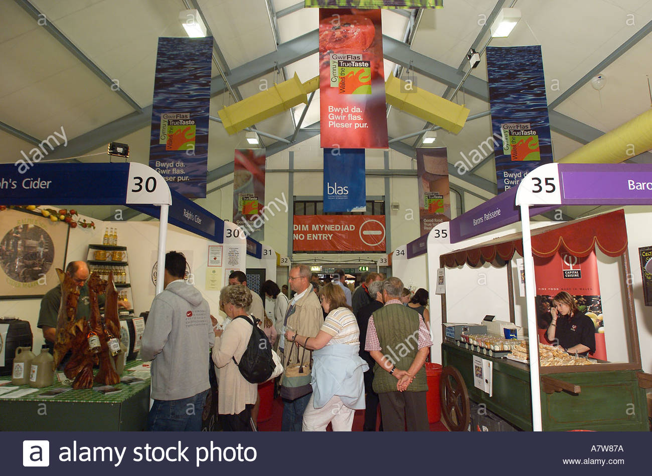 Royal Welsh Show Mid-Wales, Food Hall at Royal Welsh Agricultural Show 2004 Builth Wells Mid ...