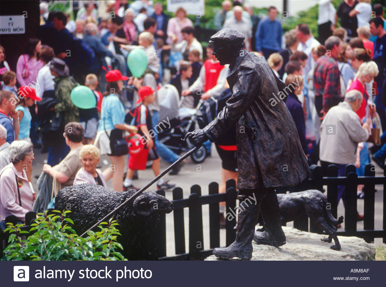 Royal Welsh Show Mid-Wales, Statue of Farmer Royal Welsh Agricultural Show Builth Wells Mid ...