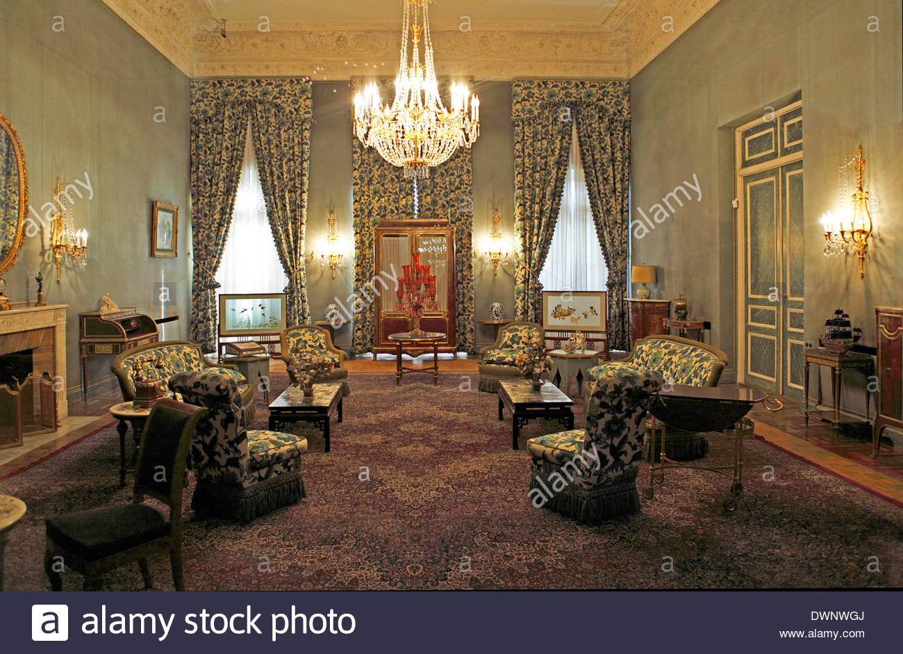 White Palace Tehran, Interior of a palace room, White Palace, Saadabad-Palace Complex ...