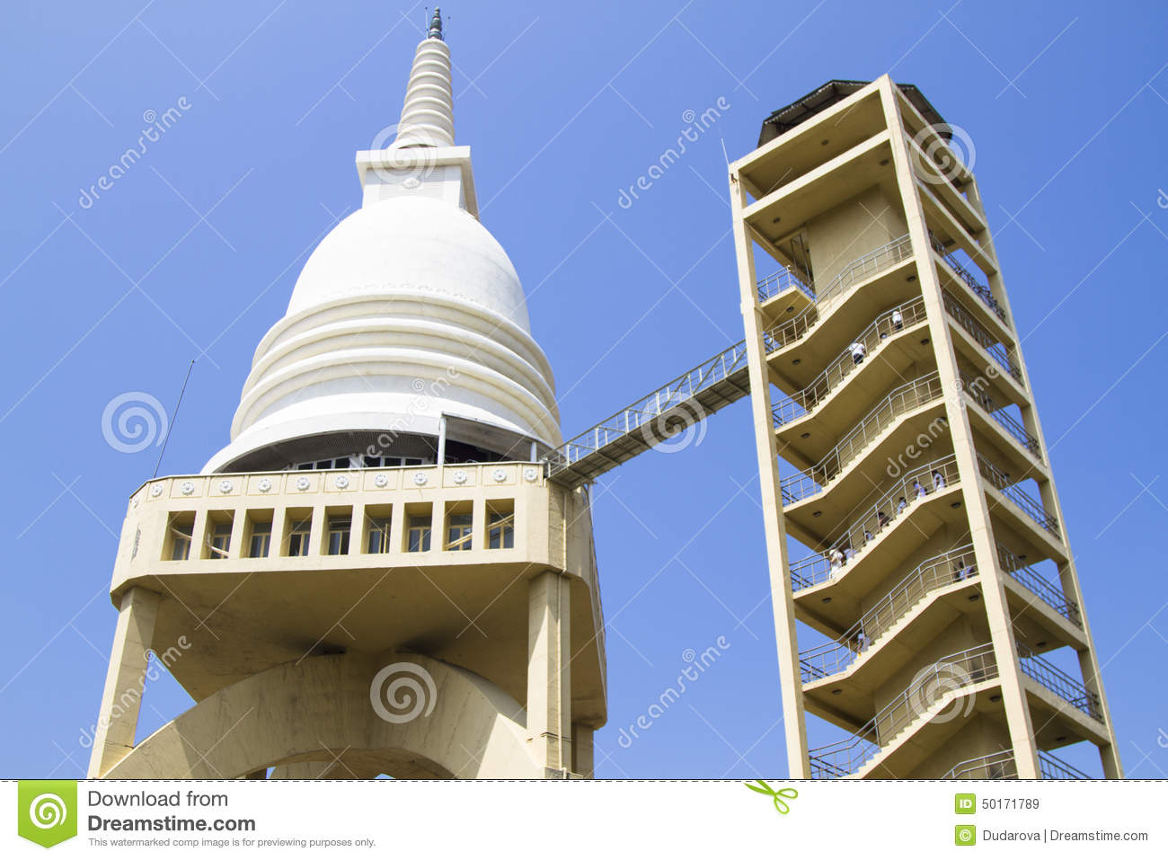 Sambodhi Chaitiya Colombo, Sambodhi Chaithya Buddhist Temple In Colombo, Sri Lanka Editorial ...